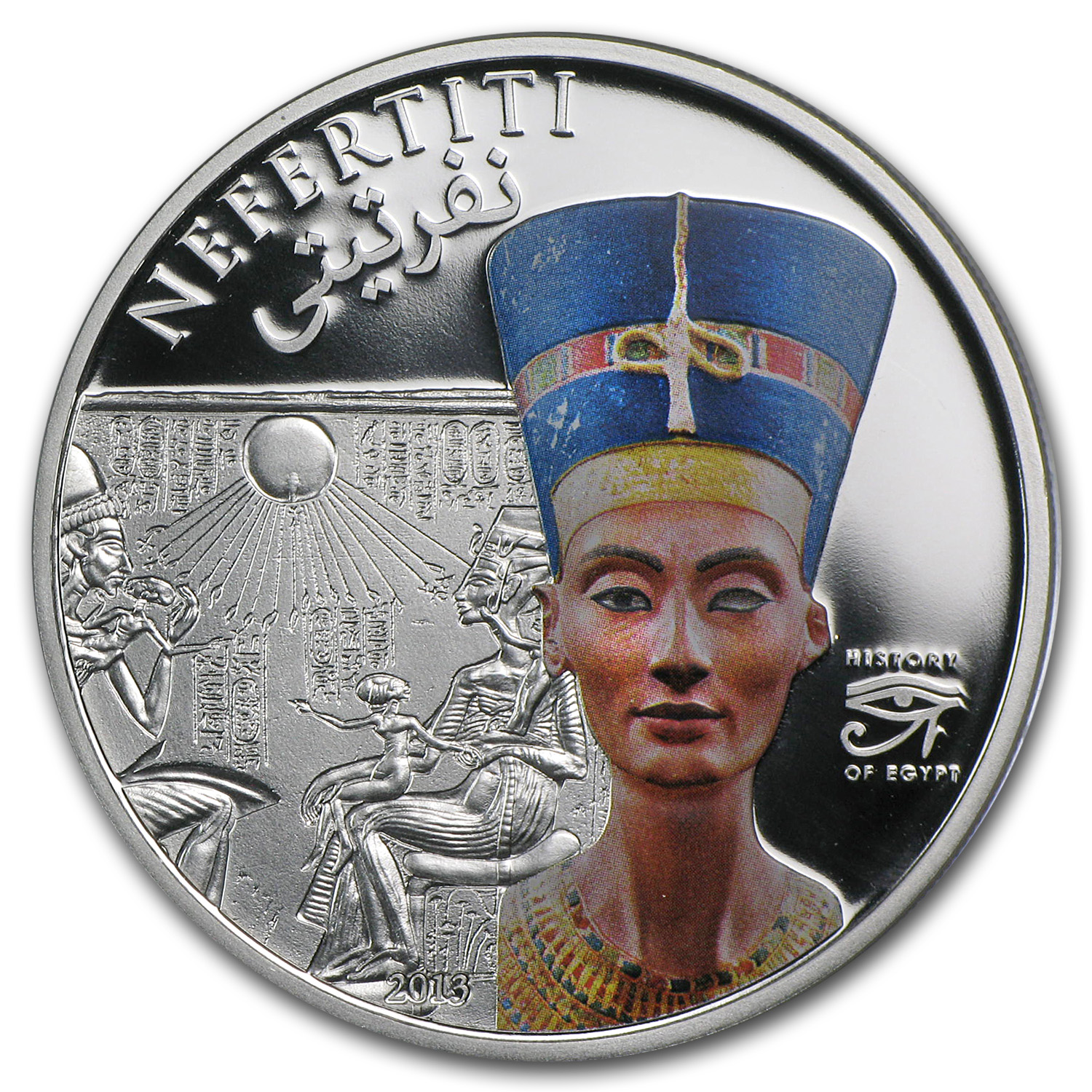 2013 Cook Islands Silver Proof History of Egypt Nefertiti